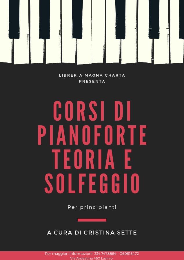 Libreria Magna Charta presenta Corsi di Pianoforte Teoria e Solfeggio