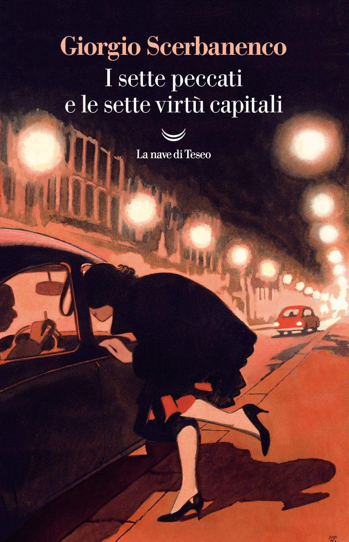 copertina libro con donna su strada di notte